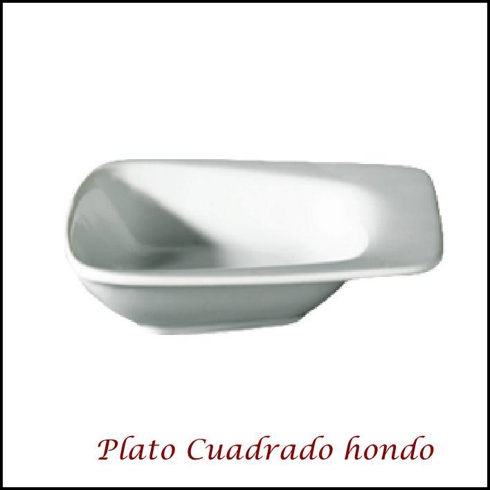 Plato Cuadrado con mango