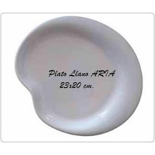 Plato Llano ARIA 23x20 cm.