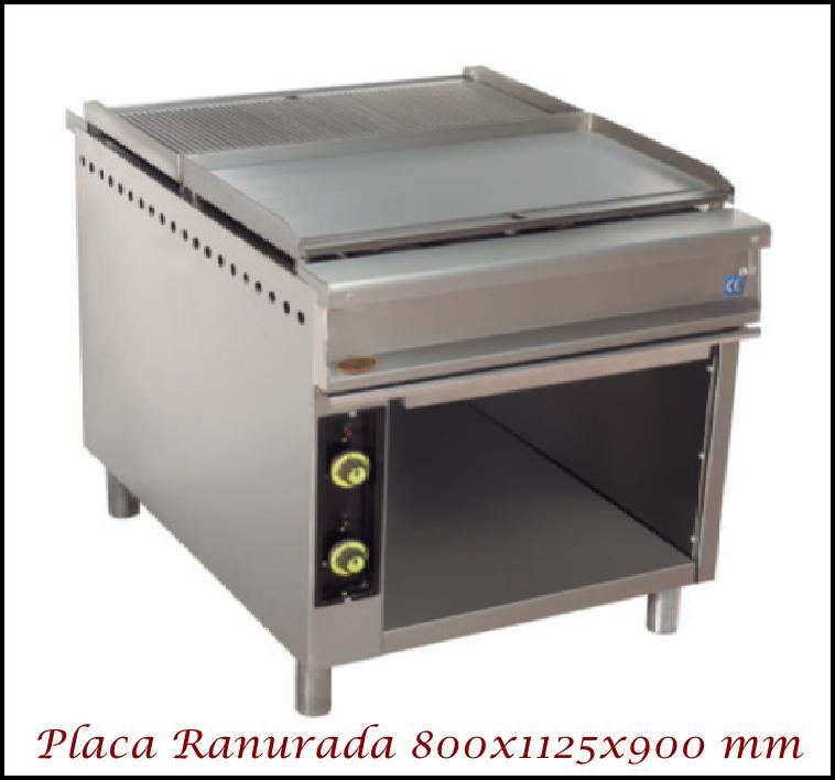 Fry-Top central SF 800CM Ranurada