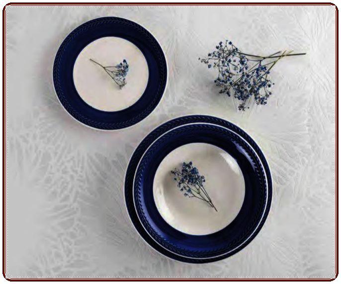 Vajilla Donna color azul. Caja 18 piezas QUID