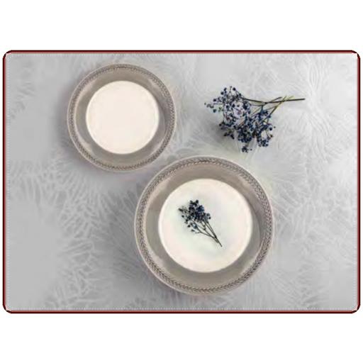 Vajilla Donna color Gris. Caja 18 piezas QUID [0]