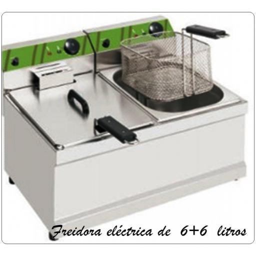 Freidora eléctrica Fk 6+6 LB