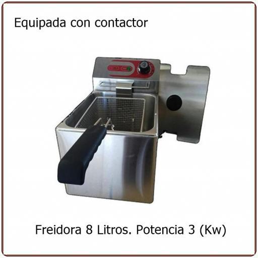 Freidora eléctrica  8  Litros EF-8L