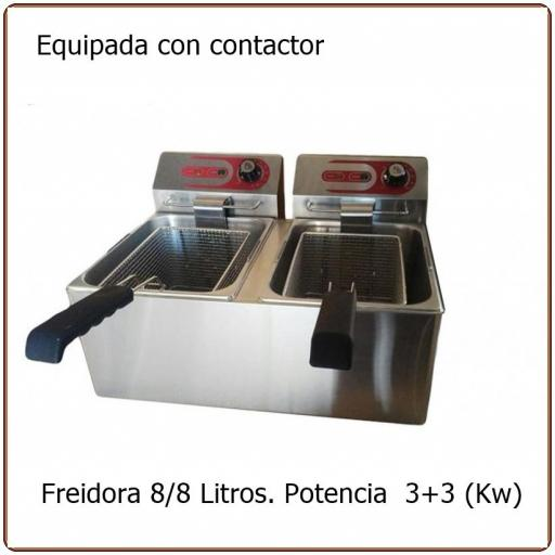 Freidora eléctrica  6+6+ Litros EF-8l2