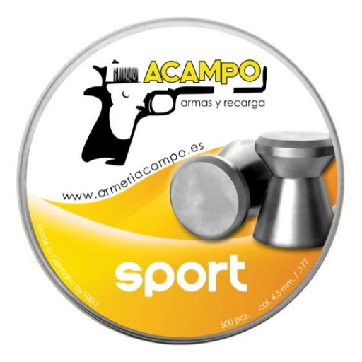 BALINES ARMERIA CAMPO SPORT - 4,5mm (.177) - 500 und. [0]