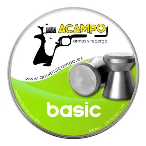 BALINES ARMERIA CAMPO BASIC- 4.50MM (.177) - 500 und.
