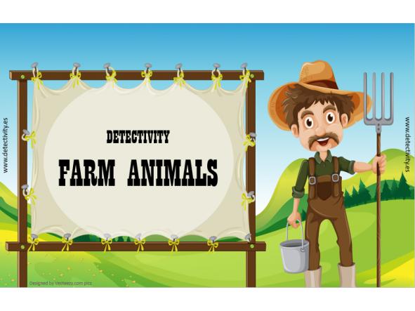 Juego de pistas Detectivity Farm Animals  (ENG)
