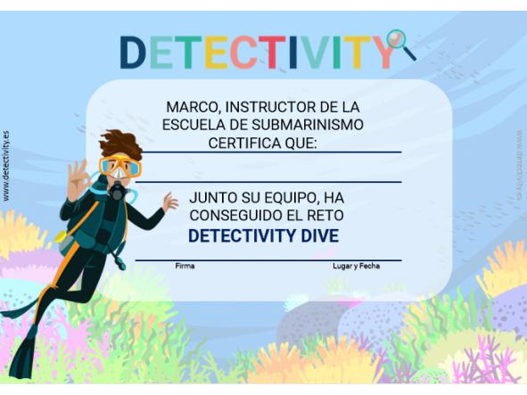 Juegos de pistas Detectivity Dive (ESP) [1]