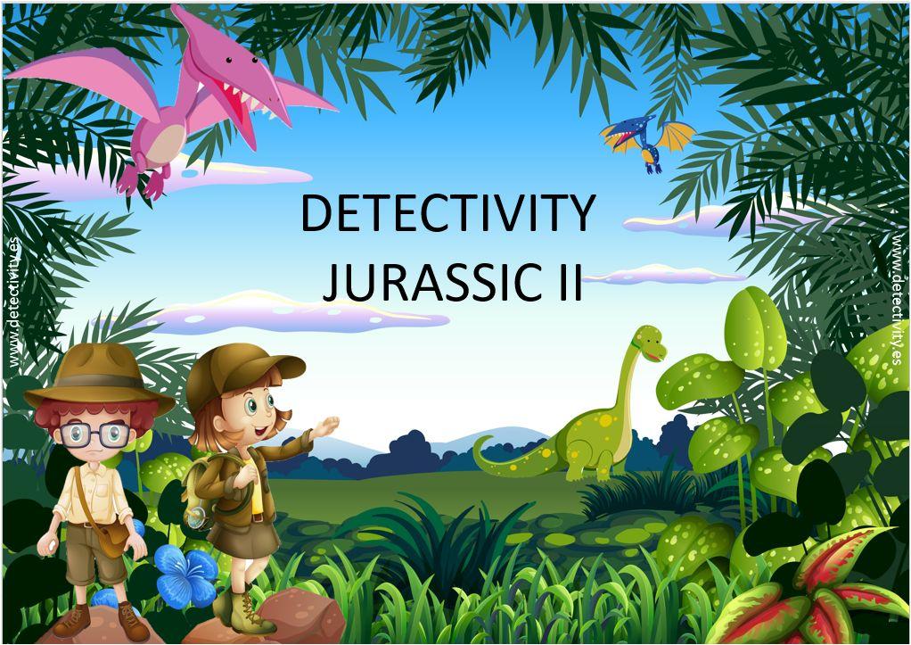 Juego de pistas Detectivity Jurassic II (CAT)