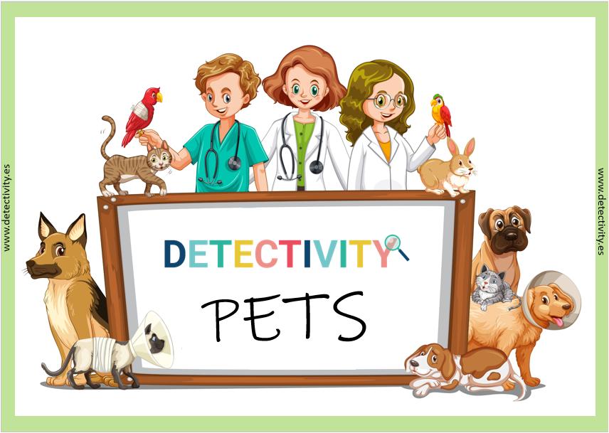 Juego de pistas Detectivity Pets Mascotas (ESP)