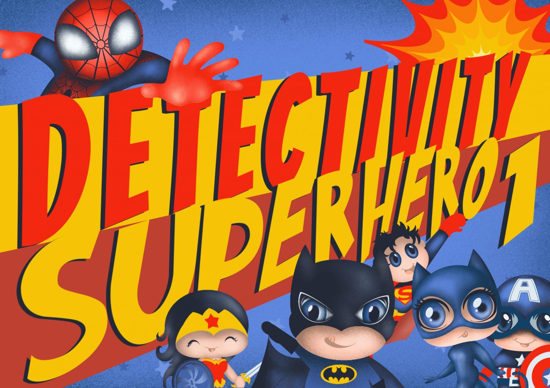 Juego de pistas cumpleaños Detectivity Superheroe 1 (CAT)