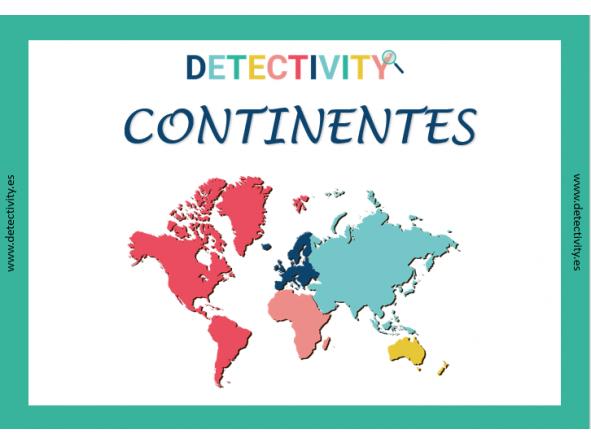 Juego de Pistas Detectivity Continentes (ESP)