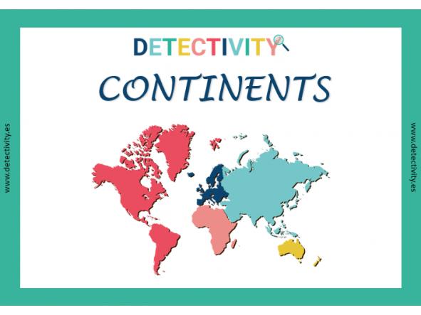 Juego de Pistas Detectivity Continents (CAT)