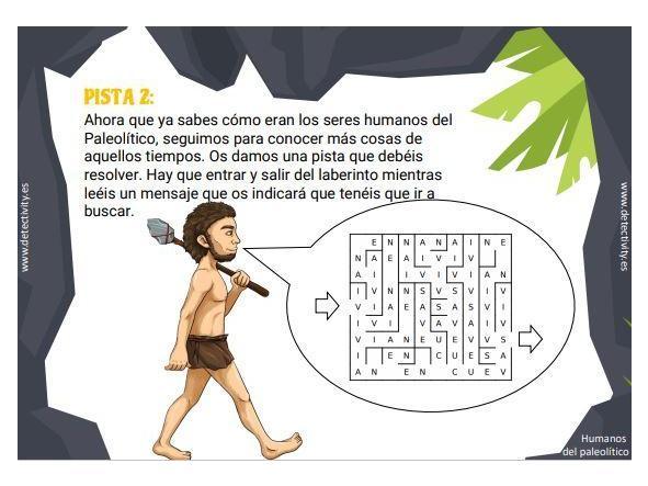 Juego de pistas Detectivity Prehistory (ESP) [2]