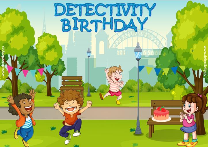 Juego de pistas Detectivity Cumpleaños en el parque (ESP)