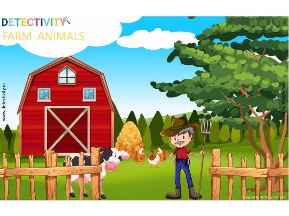 Juego de pistas Detectivity Farm Animals (CAT)