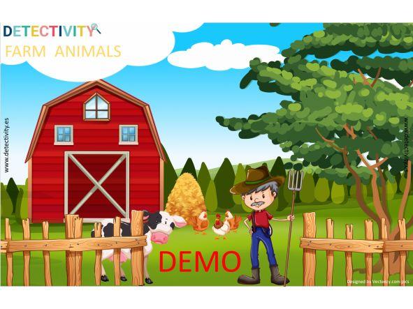 Juego de pistas Detectivity Farm Animals DEMO  (ESP)