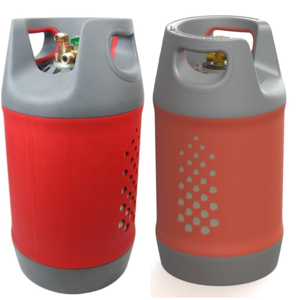 A3 Kit de 2 botellas de 24,4 l. con Indicador de nivel en 1 botella