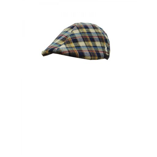 gorra lana cuadros [1]