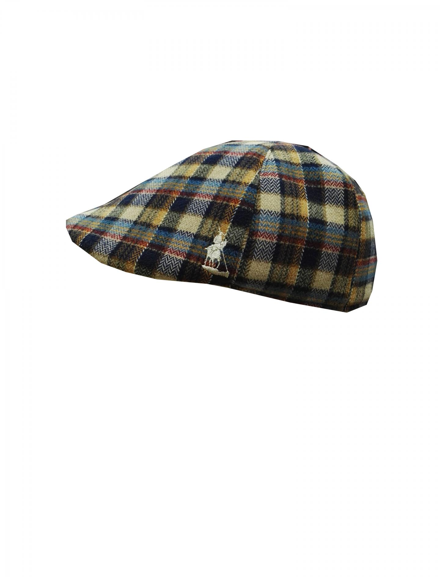 gorra lana cuadros