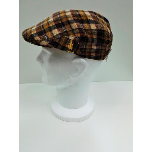 gorra lana cuadros naranja [1]