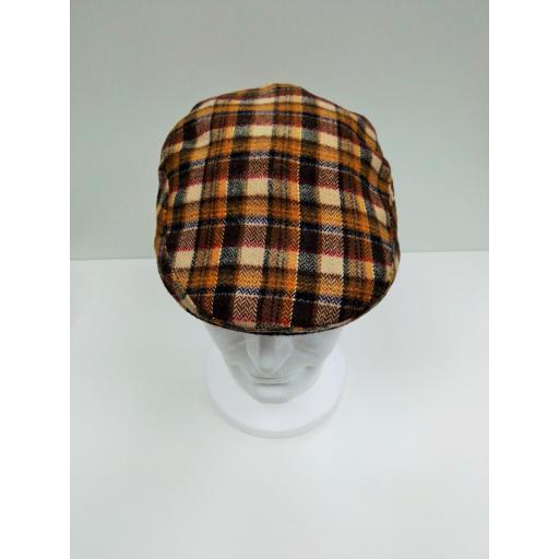 gorra lana cuadros naranja [2]