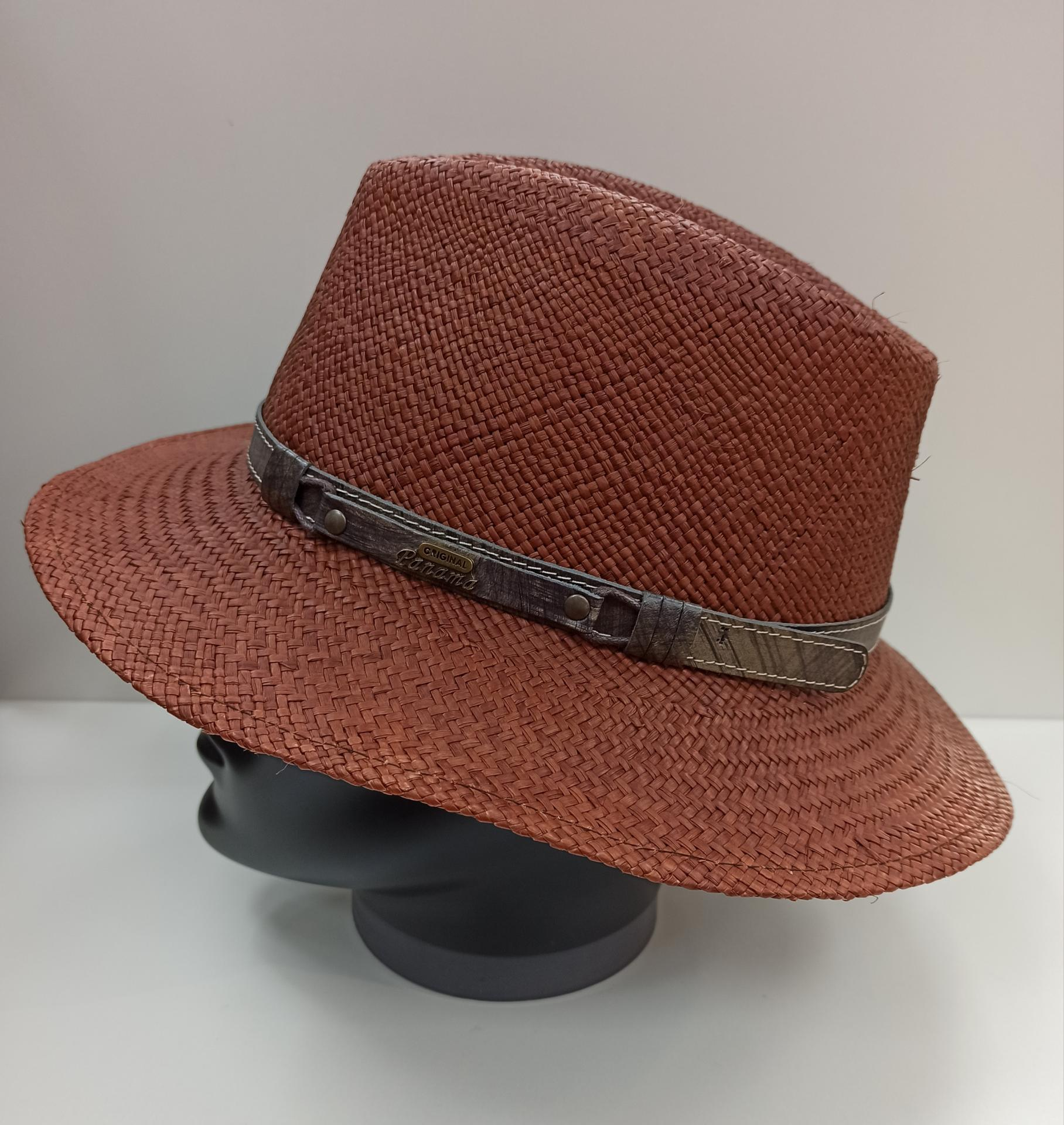 Sombrero panamá Marrón