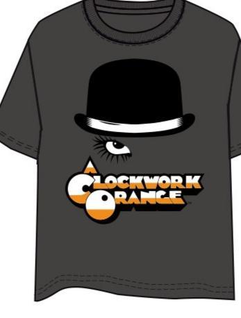 Camiseta naranja mecánica ojo