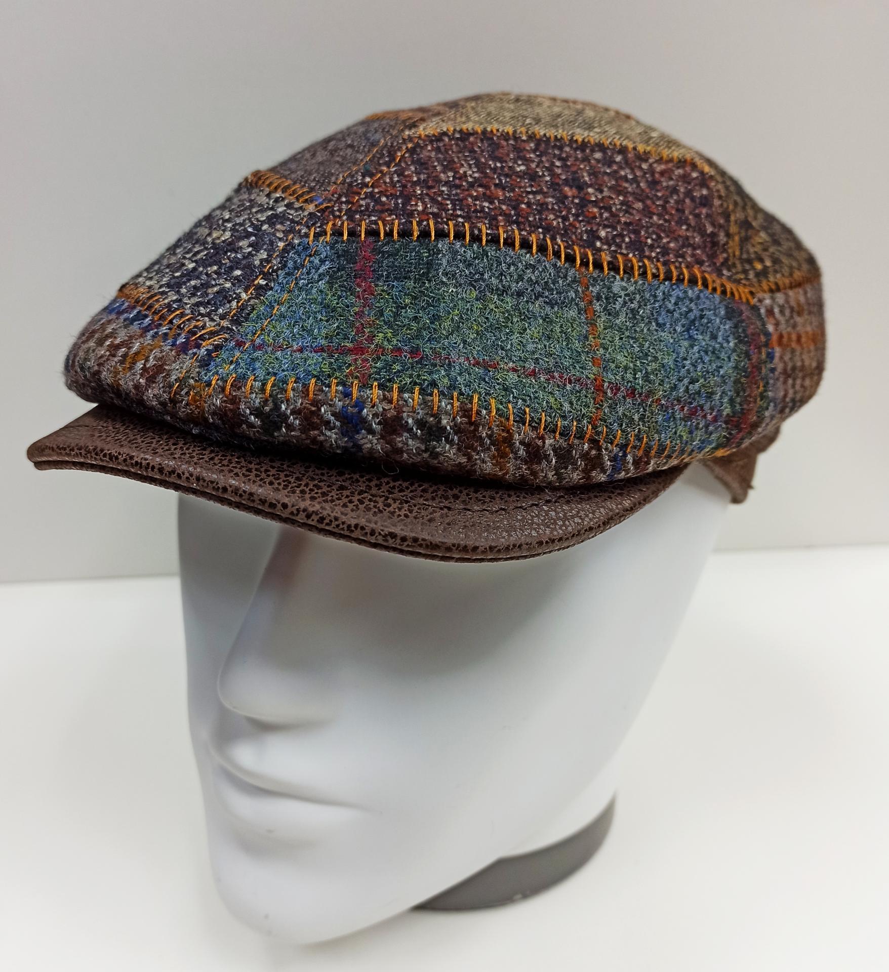 Gorra patch piel lana