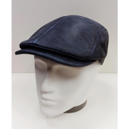 Gorra piel Daf blue leather