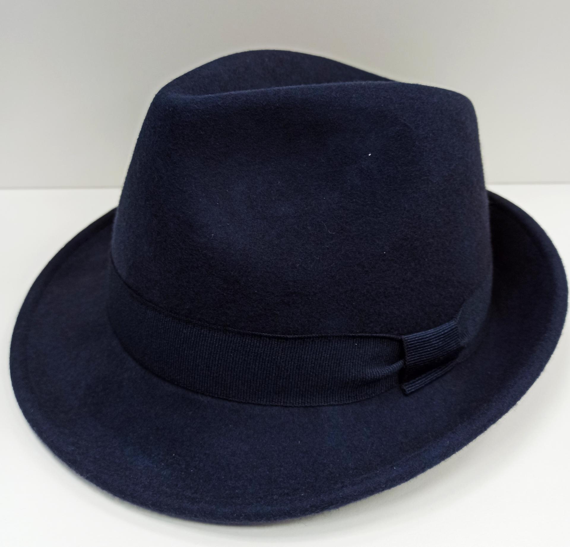 Sombrero Trilby azul