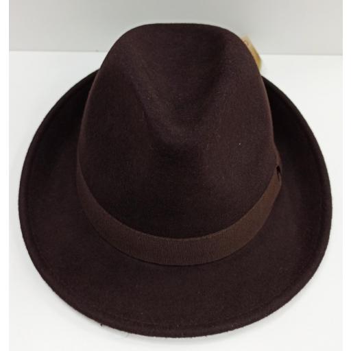 Sombrero Trilby marrón [1]