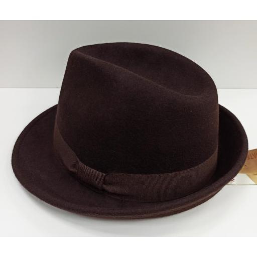 Sombrero Trilby marrón [2]