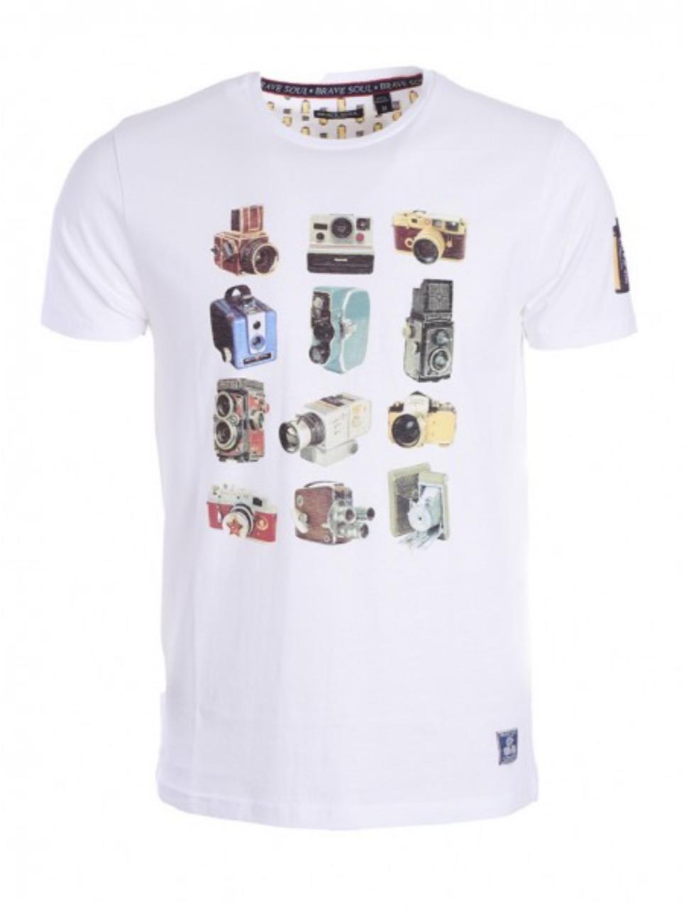 Camiseta retro camera