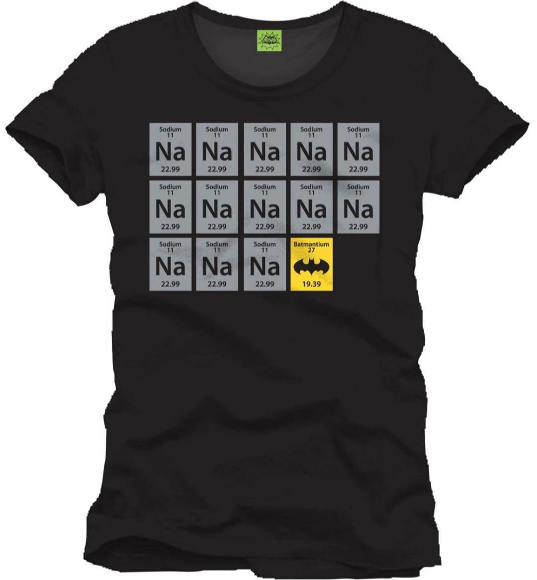 Camiseta tabla periódica Batman