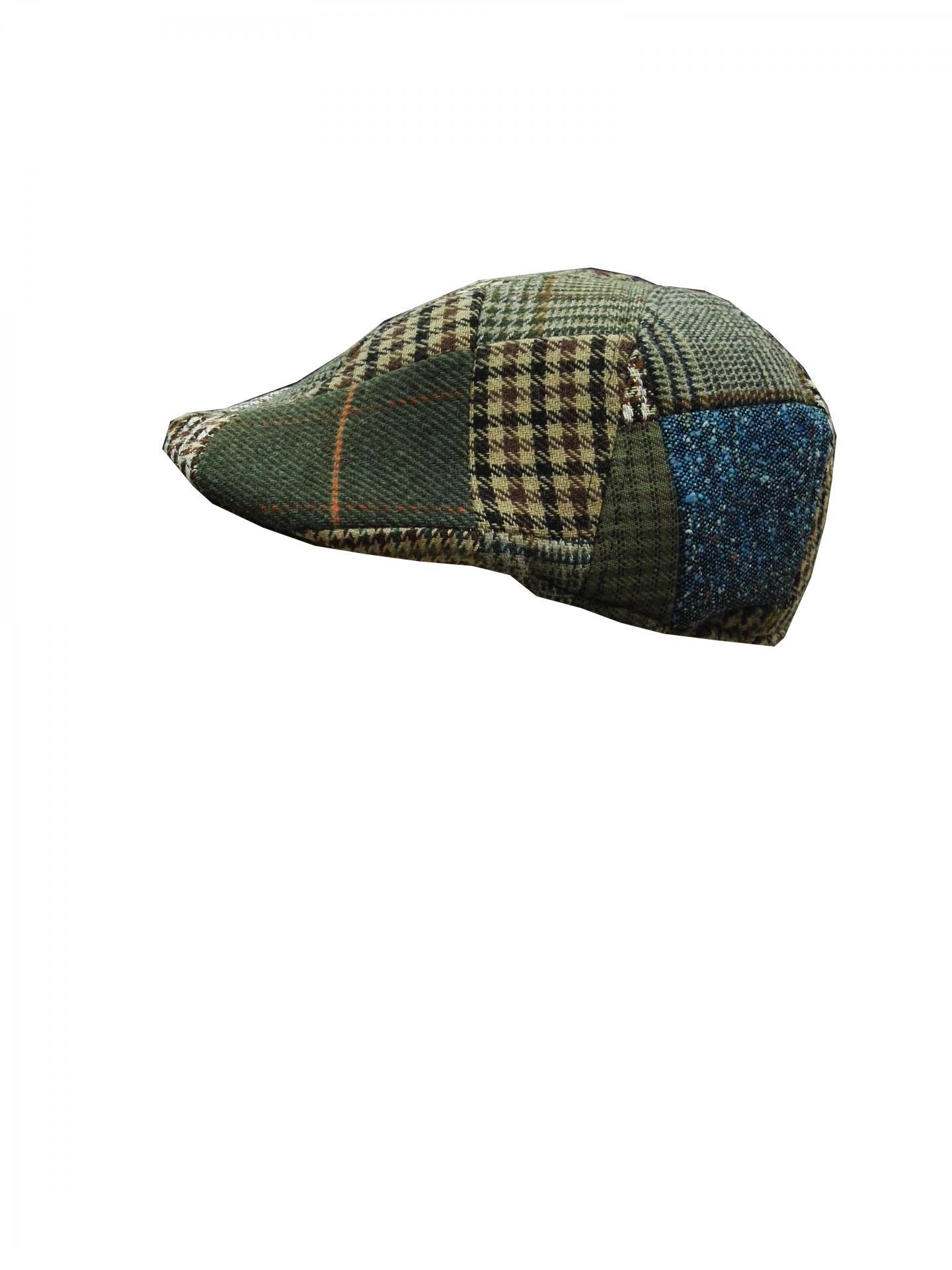gorra lana patchwork