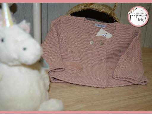 Chaqueta Ancar cruzada pelo en bolsillos color rosa maquillaje [1]