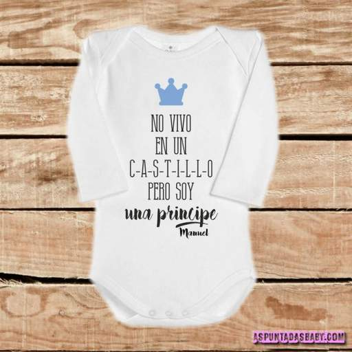 Body bebé mod. No soy un Príncipe (azul) [1]