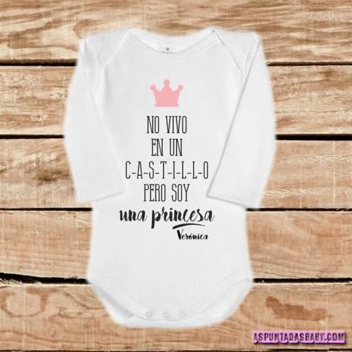 Body bebé mod. No vivo en un castillo....  (rosa) [1]