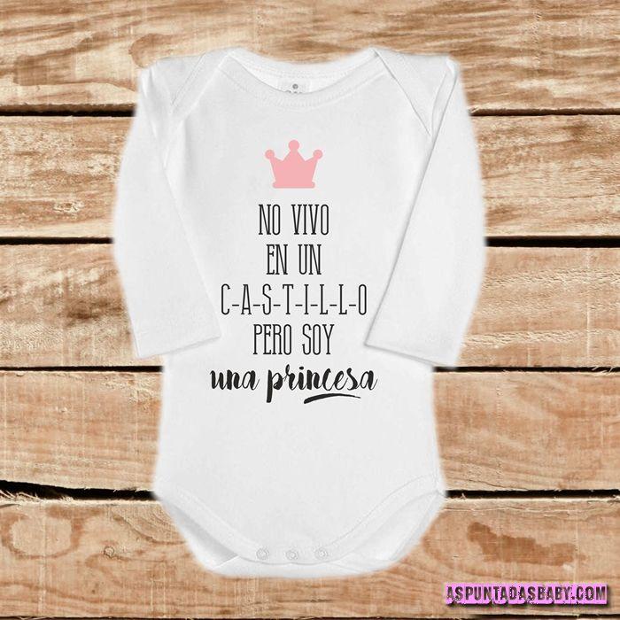 Body bebé mod. No vivo en un castillo....  (rosa)