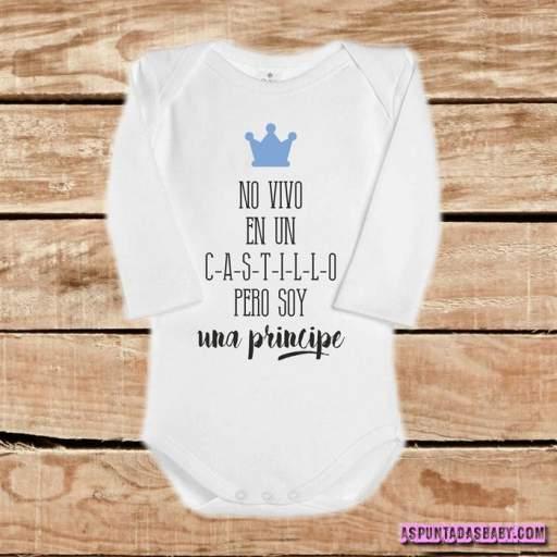 Body bebé mod. No soy un Príncipe (azul)
