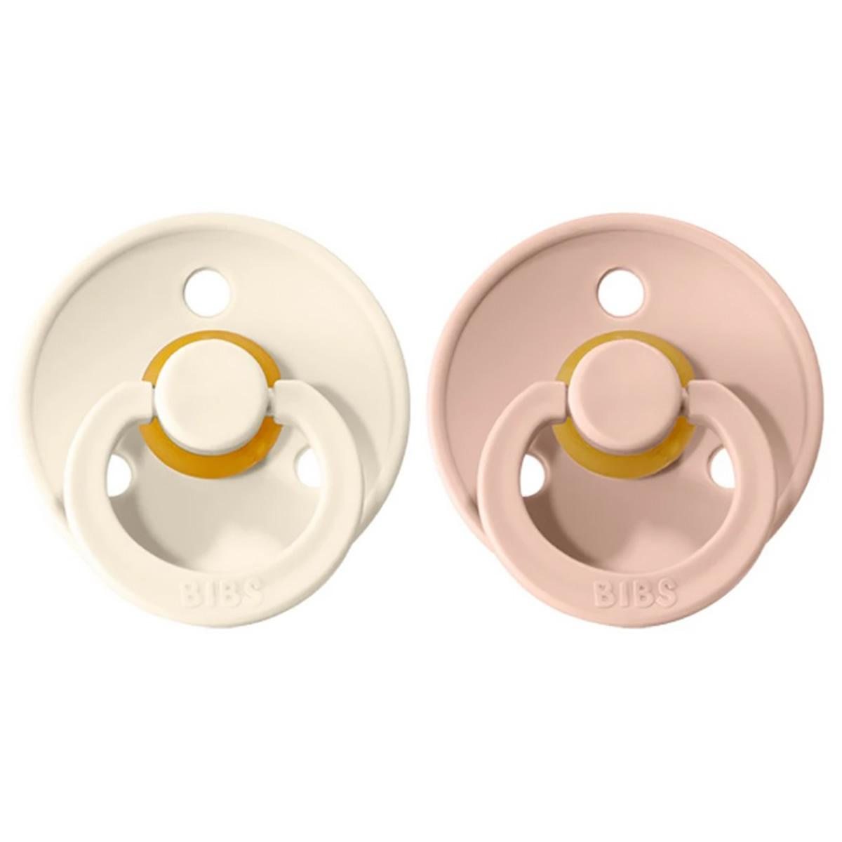 2 Chupetes BIBS Colours Blush/Ivory