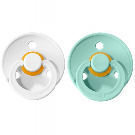 2 Chupetes BIBS Colours White/Mint