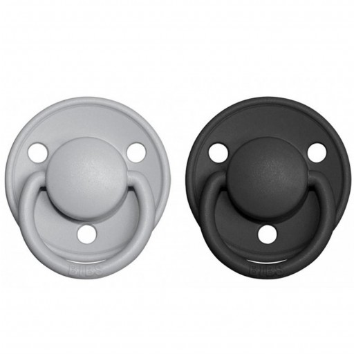 2 Chupetes BIBS De Lux Cloud/Black
