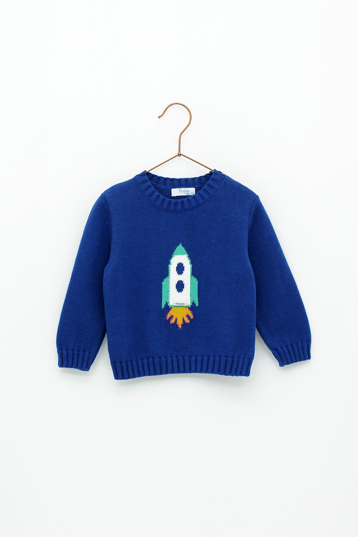 Jersey Foque mod. Cohete color azul .