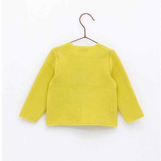 Chaqueta Foque links escote color amarillo limón. [1]