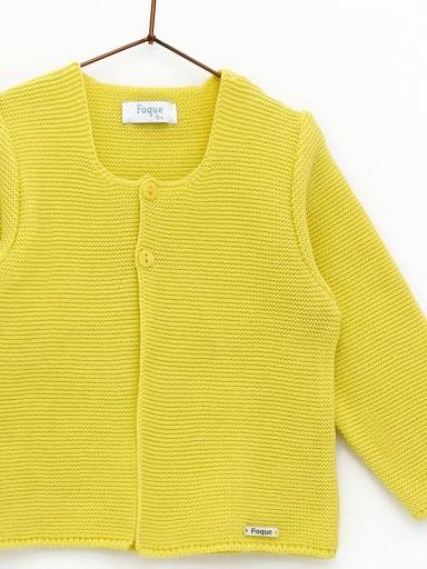 Chaqueta Foque links escote color amarillo limón. [2]