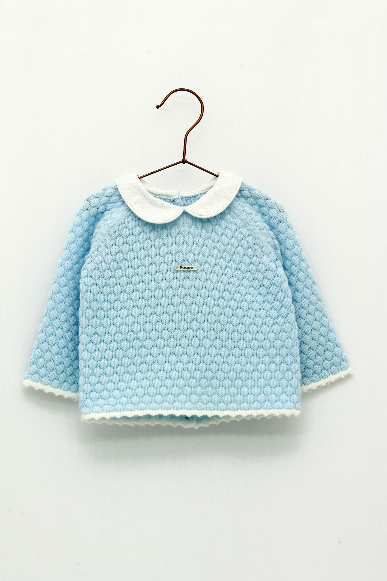 Jersey Foque bebé bodoques color celeste.