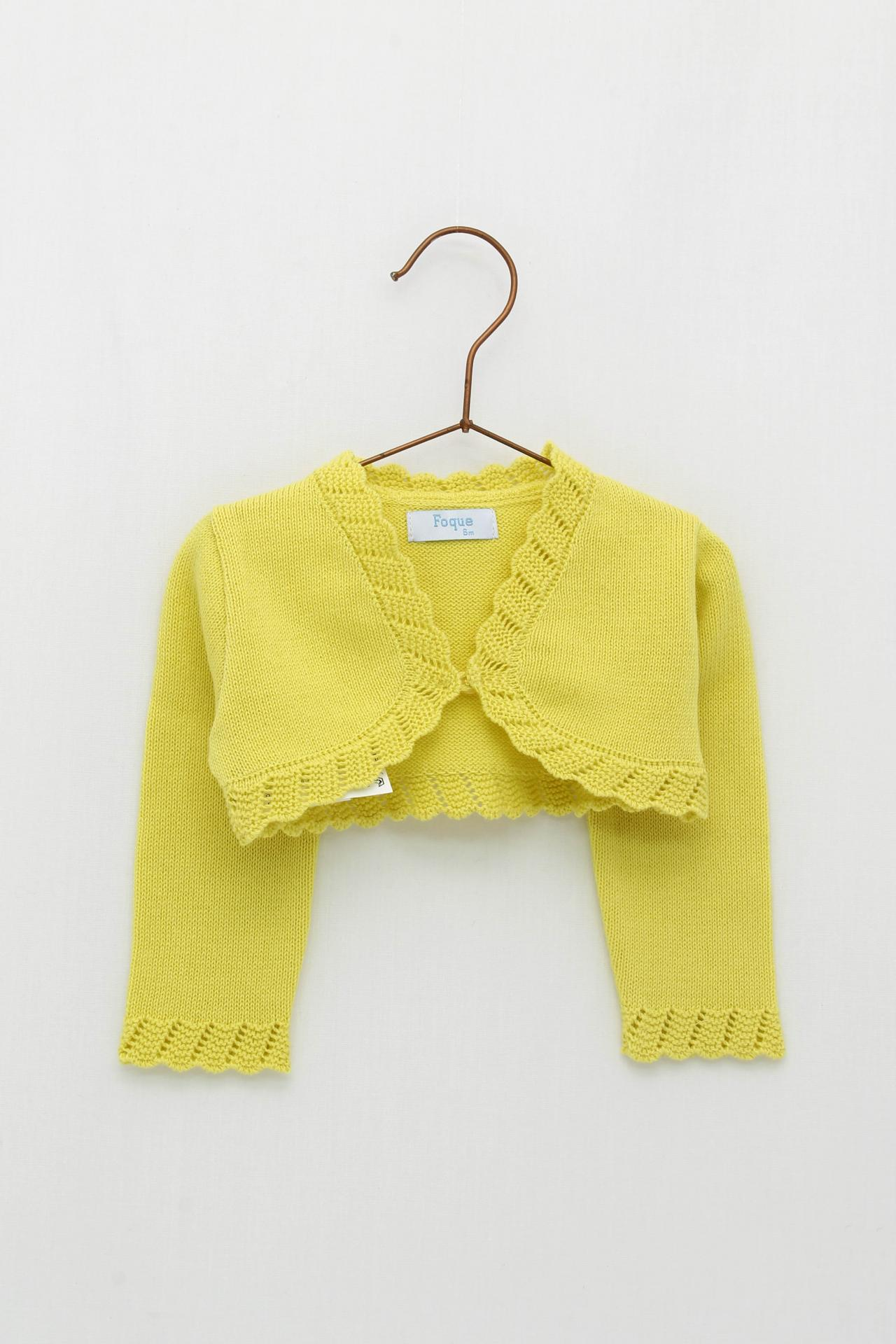 Chaqueta Foque puntas color amarillo colección sun flower.