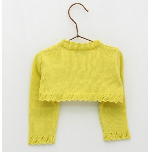 Chaqueta Foque puntas color amarillo colección sun flower. [1]